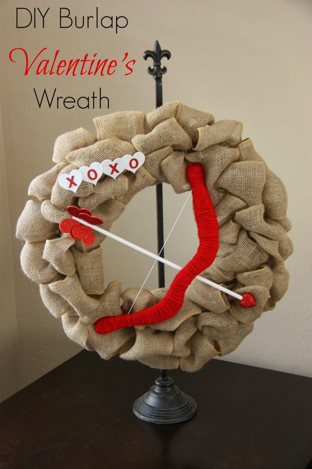 Burlap Valentine's Wreath Tutorial