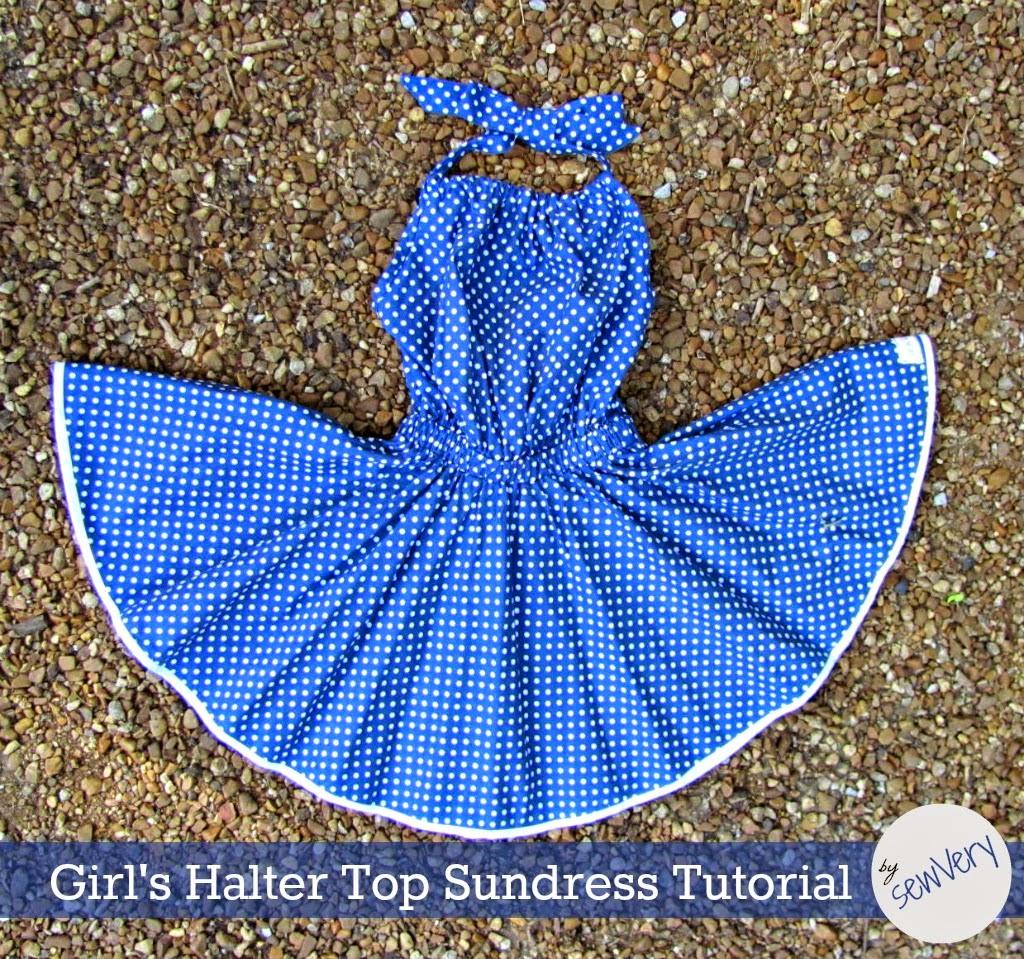 Sewvery girls halter top sundress tutorial girls halter top sundress tutorial baditri Gallery