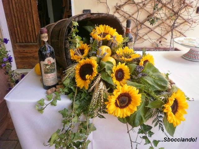 Composizioni Con Girasoli Matrimonio : Sbocciando matrimonio d estate nella campagna toscana