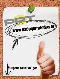 """Imagen que hace referencia al programa de televisión argentino """"Pádel para Todos"""""""