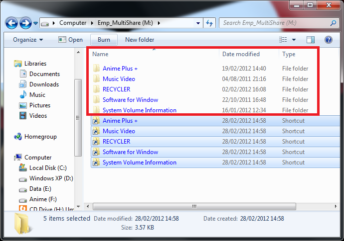 Virus Shortcut, File dan Folder Hilang