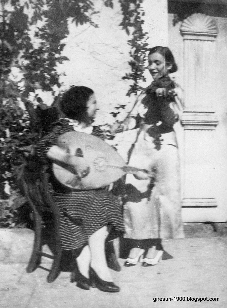 Black Sea Ladies Playing Violin and Oud c. 1930, Turkey