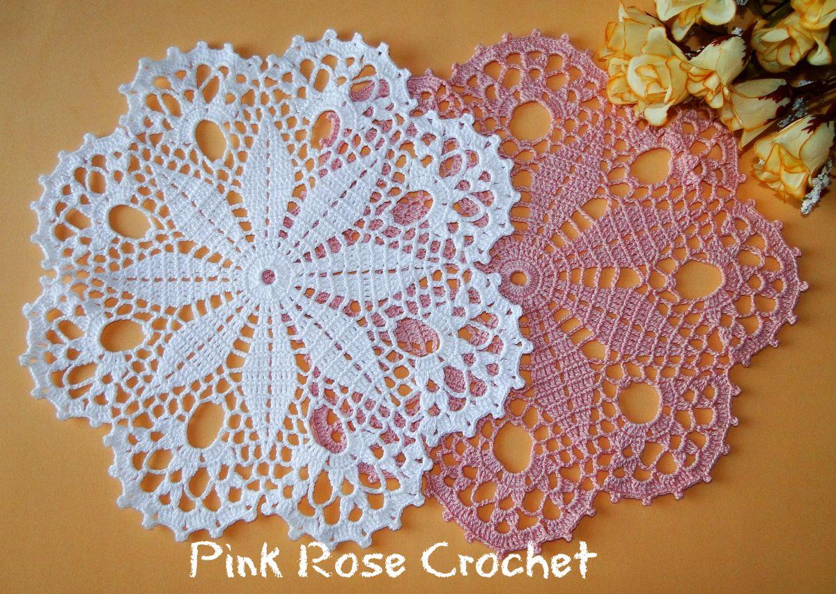 Centro de mesa para tejer a crochet muy f cil de hacer - Centro de mesa a crochet ovalado ...