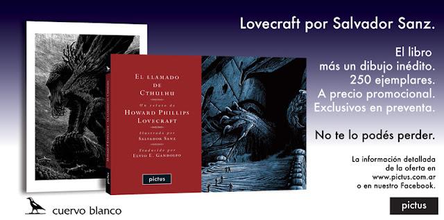 """""""El llamado de Cthulhu"""", de H. P. Lovecraft, con dibujos de Salvador Sanz y traducción de Elvio Gandolfo"""