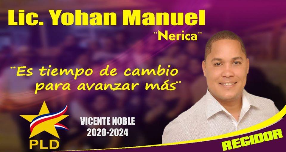 LIC. YOHAN MANUEL NERIKA REGIDOR 2020-2024 PLD