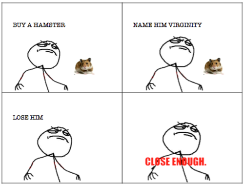 Buy A  Hamster Name Him Virginity Lose Him - Close Enough