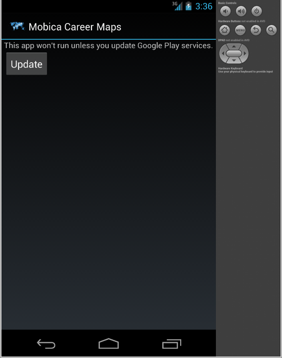 android emulator update google play services