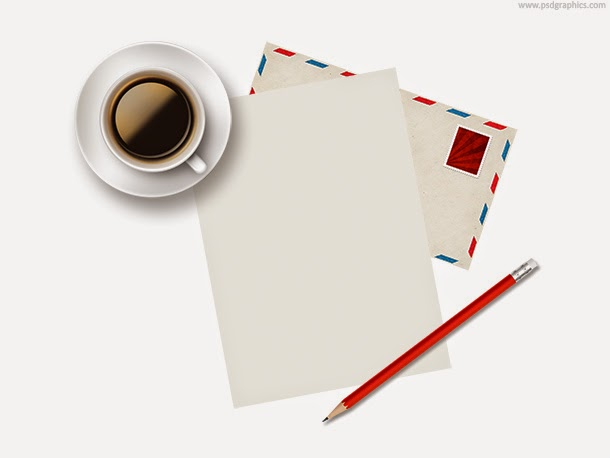 Cup of Coffee and Paper PSD