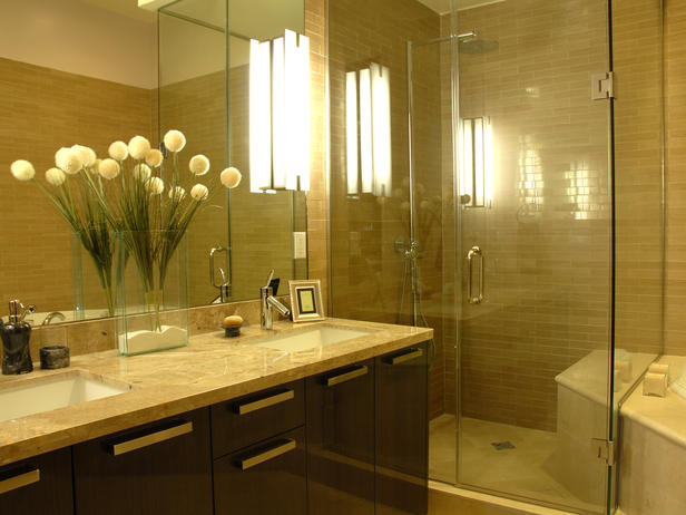 Modern furniture small bathroom design ideas 2012 from hgtv - Modern bathroom decorating ideas ...