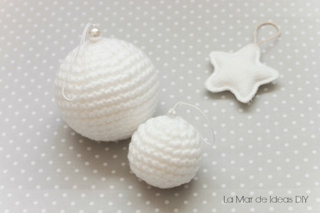 Diy bolas de navidad de ganchillo con patr n gratis - Bolas de navidad grandes ...