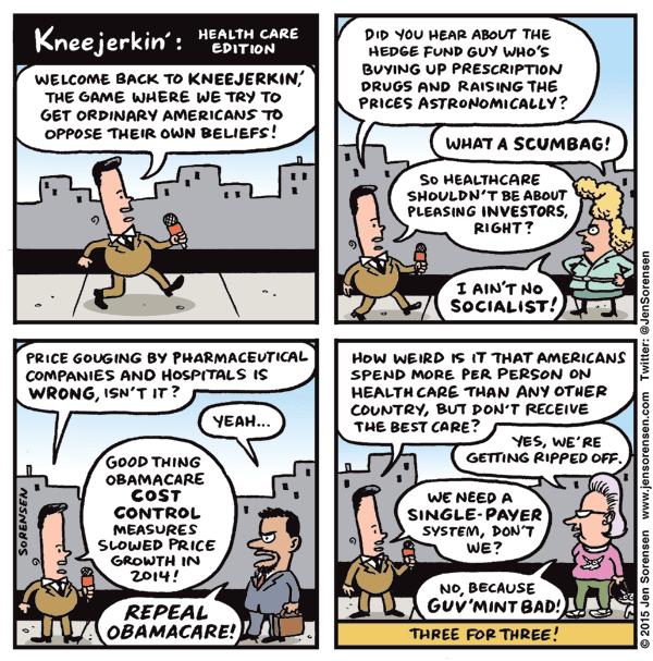 Kneejerkin' Health Care Edition:   Reporter