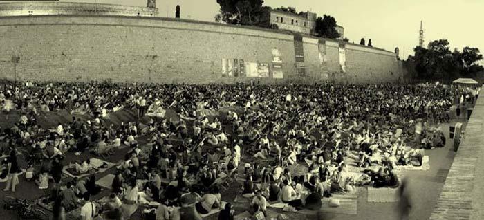 cine, conciertos, jardines de montjuïc, Barcelona