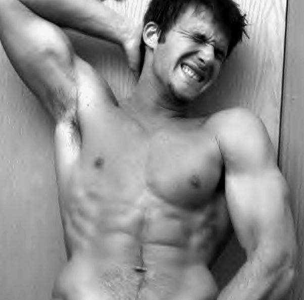 College jock Nick in Black and White