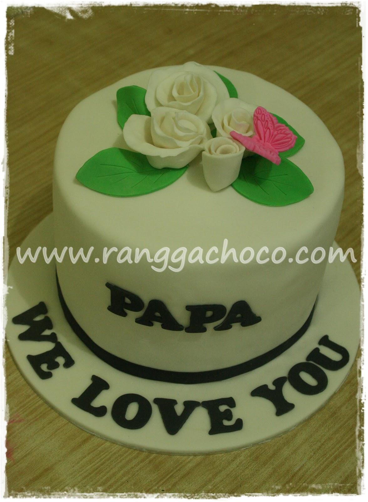 Images Of Papa Birthday Cake : Ranggachoco: White Roses Birthday Cake for Papa