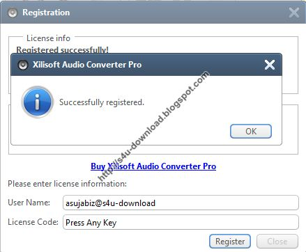 Xilisoft Audio Converter Pro 6.4.0 Build 20130104