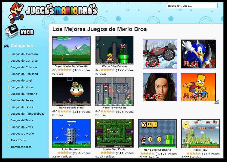 Juegos de Mario Bros gratuitos