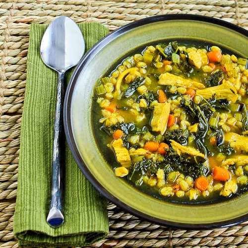 Kitchen®: Recipe for Chicken Soup with Farro, Kale, and Turmeric