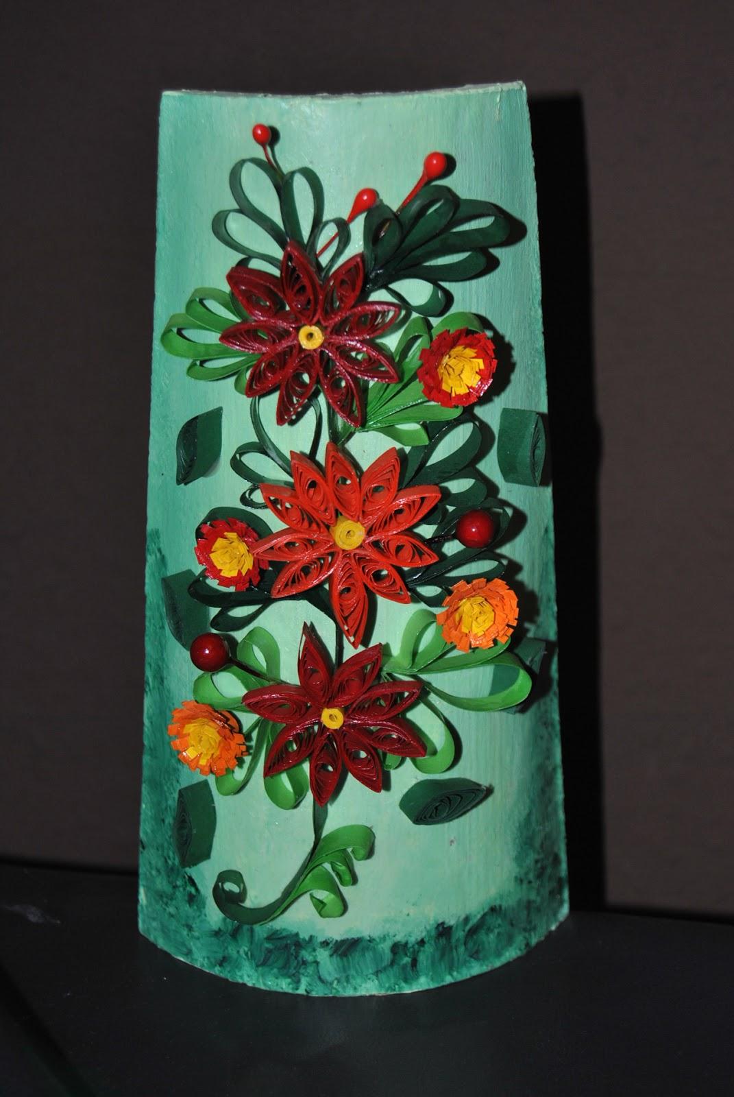 Manualidades el rinconcito de maly teja decorada con flores - Tejas pequenas decoradas ...
