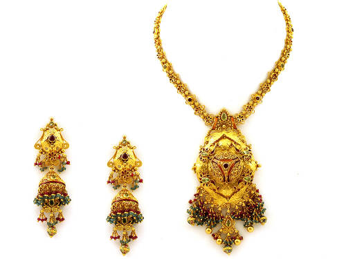 Indian Gold Jewellery Necklaces Antique Indian Gold Jewellery