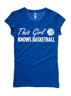 This Girl Knows Basketball Tee