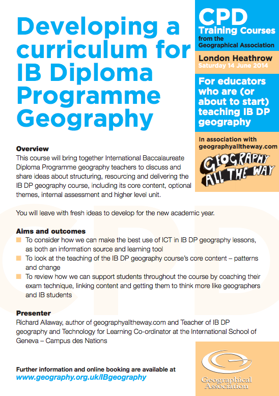 geography coursework ib Ib diploma geography 1 ib diploma geography student information package welcome all this package includes the following: 2 year course syllabus.