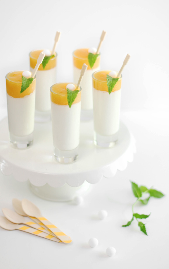 Peaches and Cream Panna Cotta Shots and My Favorite Gelatin Alternative