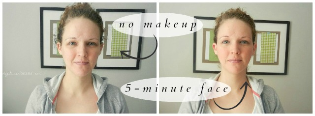 5-Minute Face // before + after