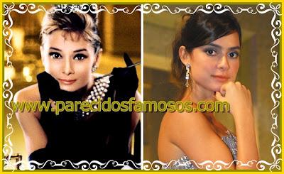 Parecido Audrey Hepburn y Thaila Ayala