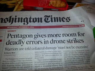 Pentagon gives more room for deadly errors in drone strikes Warriors are told collateral damage 'must not be excessive'