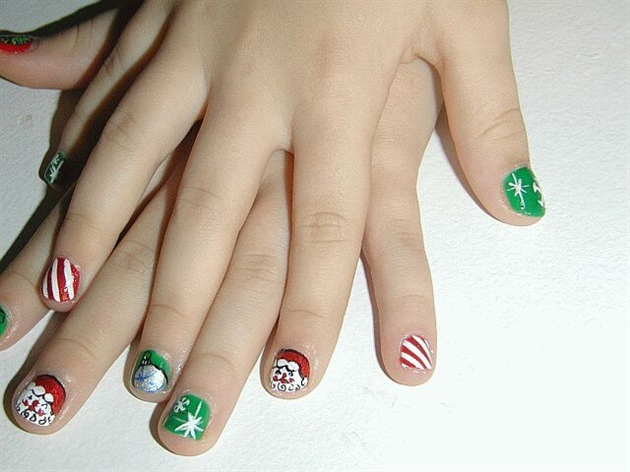 Childrenhairstyles22: Girls Holiday Fingernails and Nail Art