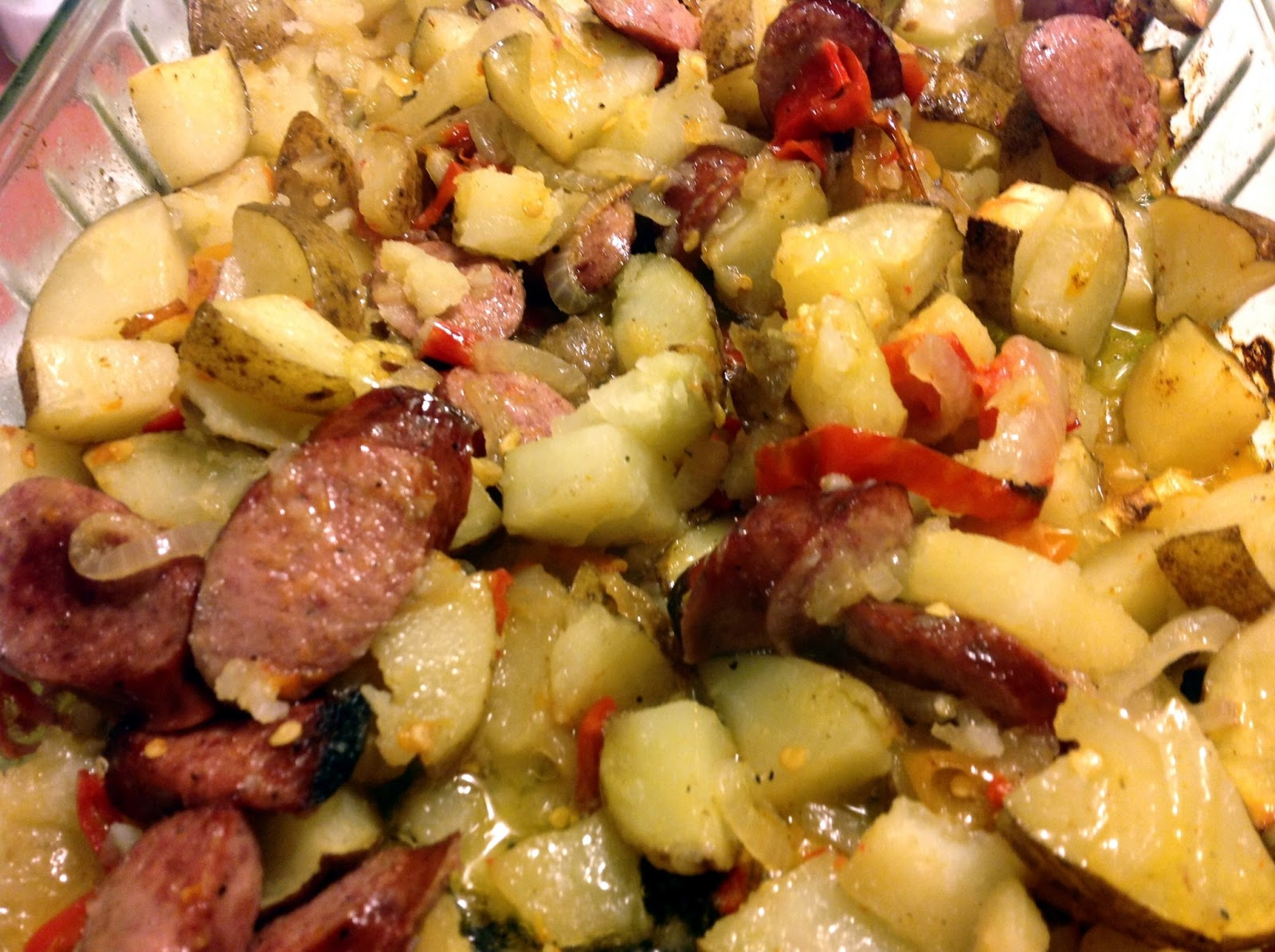 the dog mom: sausage and potato bake