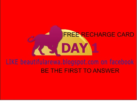 Day 1 give away free recharge card