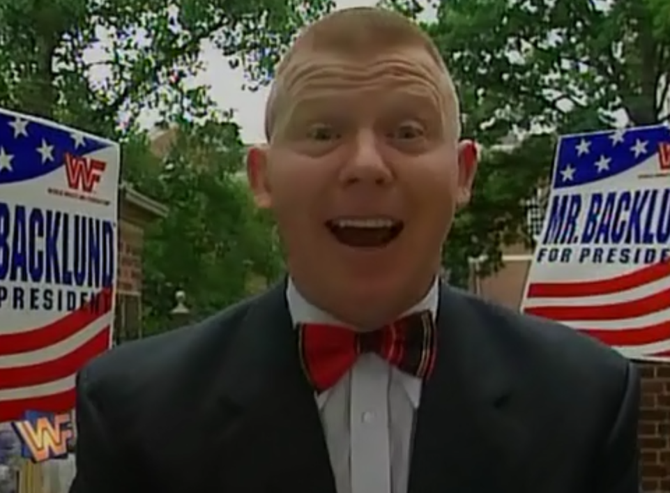 WWF / WWE - King of the Ring 1995 - Bob Backlund on the campaign trail to become US President