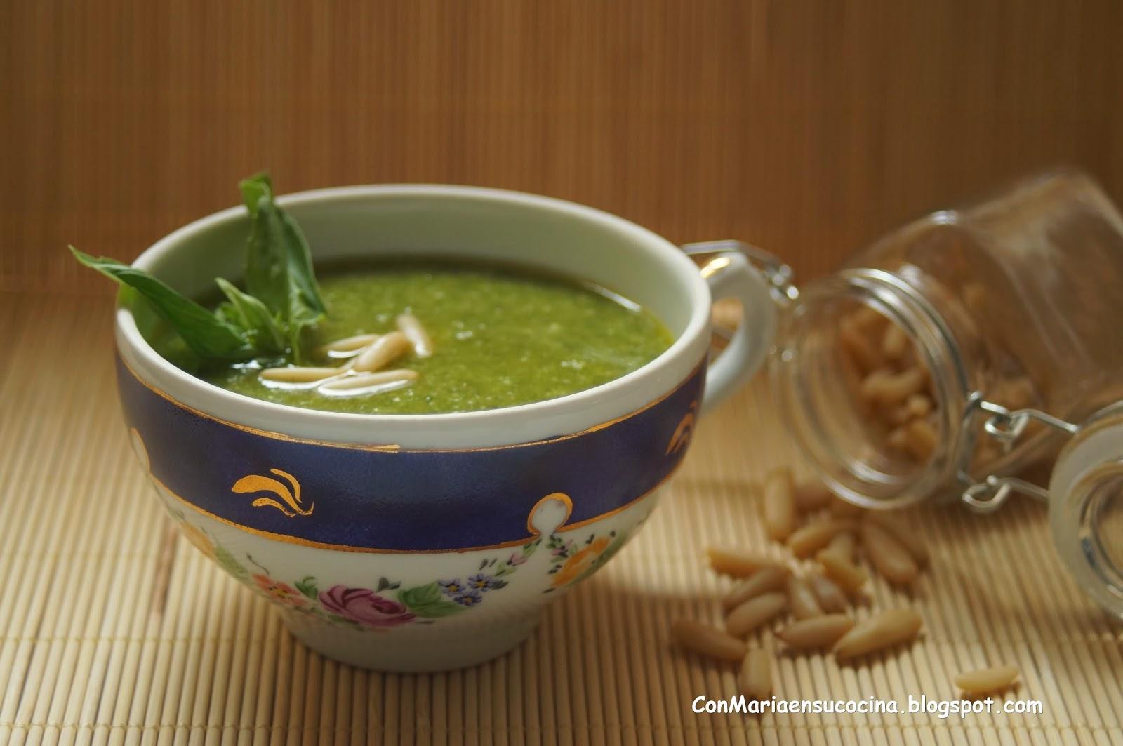 Con mar a en su cocina como se hace la salsa pesto alla - Como se hace la salsa pesto para pasta ...