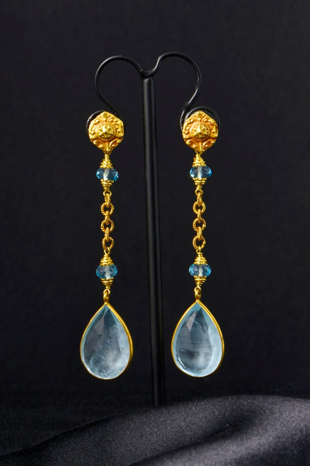 Acqumarine earrings