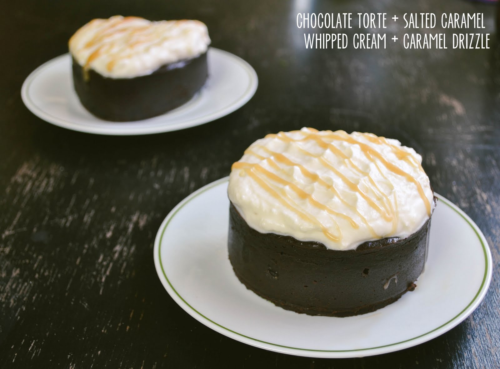 tasty tuesday: decadent chocolate torte with salted caramel whipped ...