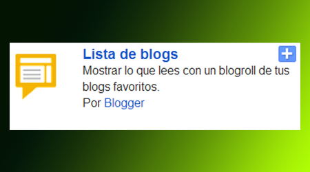 Tendremos una lista de blog favoritos en la barra lateral