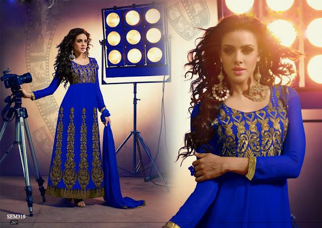 New Georgette Kali Work Anarkali Suit | Wholesale Supplier