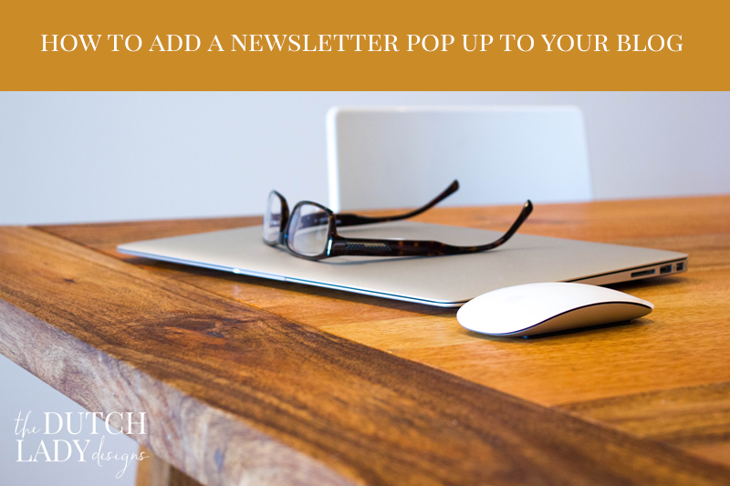 how to add a newsletter pop up screen to your website