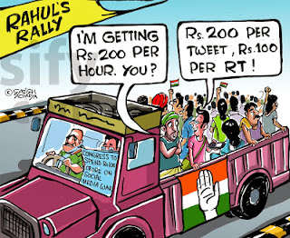 fake crowd by congress paid for attending congress rallies