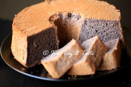 resep cake chiffon ketan hitam yang sedap dan mudah