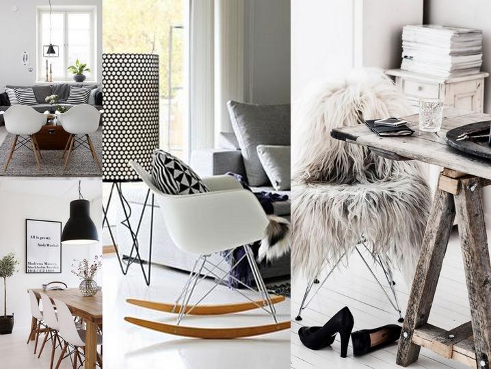 Moois en liefs winterwit interieur for Schommelstoel eames replica