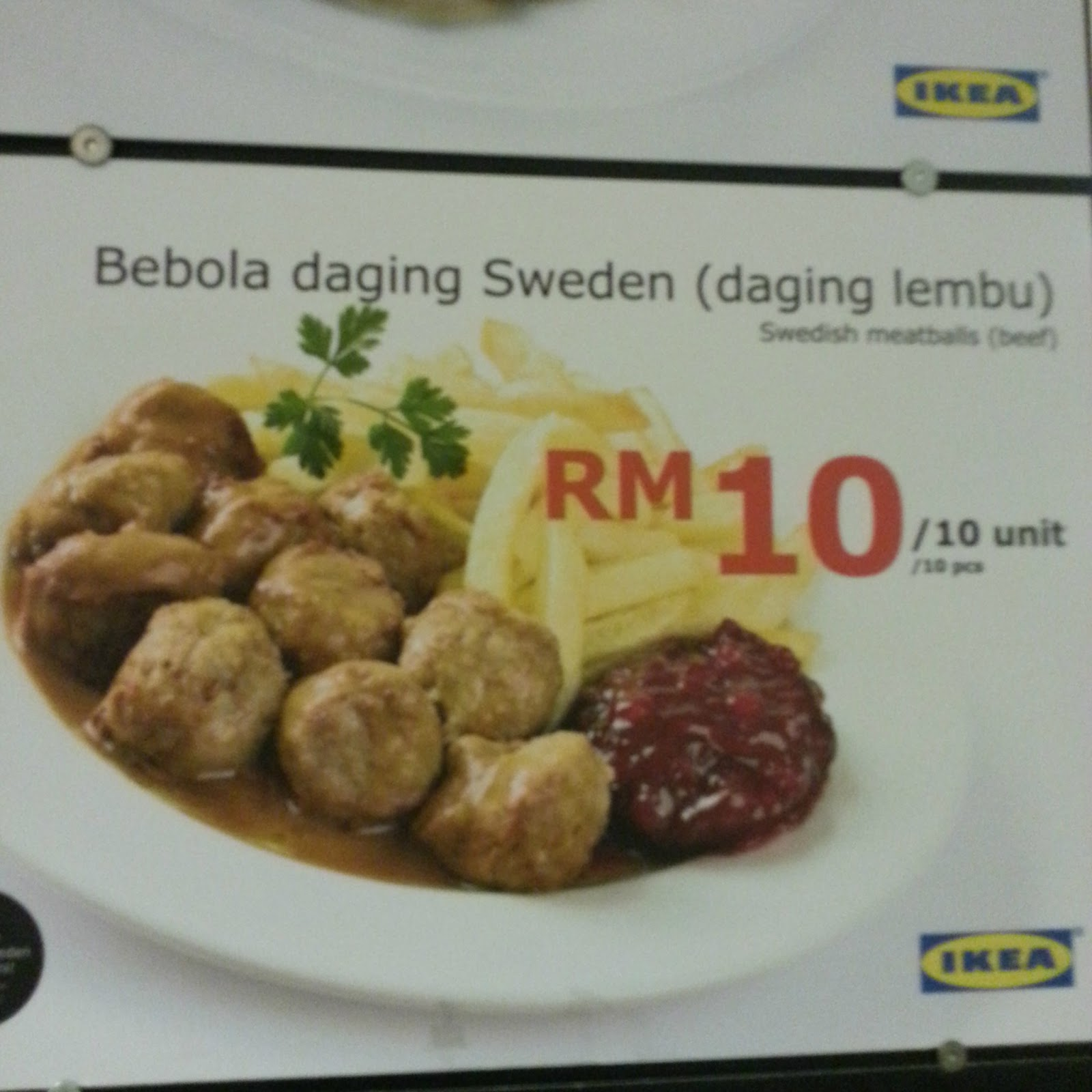 Farah Hanis FCM MEATBALL IKEA