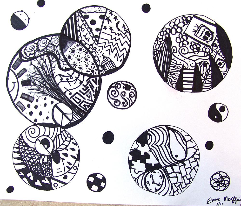 Cool Stuff Art Gallery: Black & White Drawing Art Project