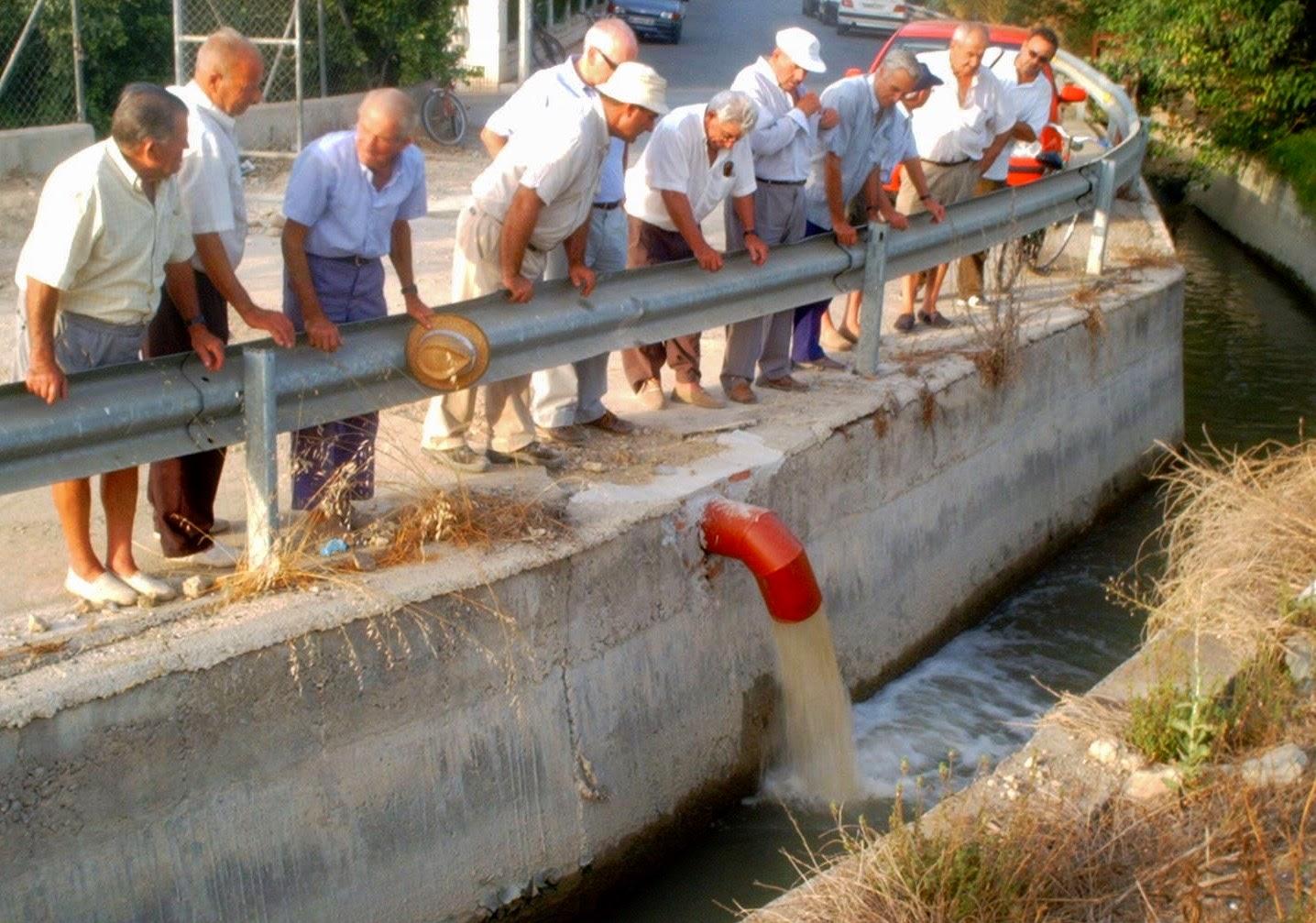 Agua de pozo a la acequia, Murcia