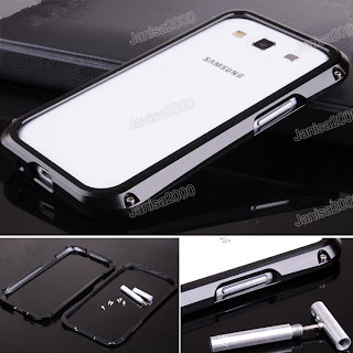Metal Screw Aluminum Frame Bumper Case Cover Samsung Galaxy S 3 III i9300 Black