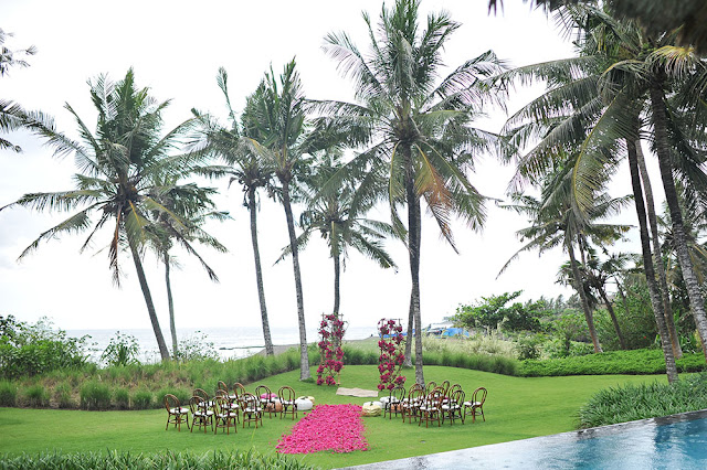 ceremony at arika villa, canggu