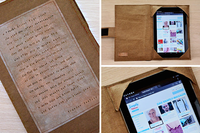 Frau Vau: DIY - Eine Tablet-Hülle aus SnapPap