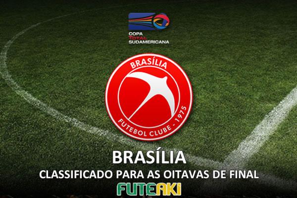Brasília classificado para as oitavas de final da Copa Sul-Americana 2015 após ter vencido o Goiás por 2 a 0