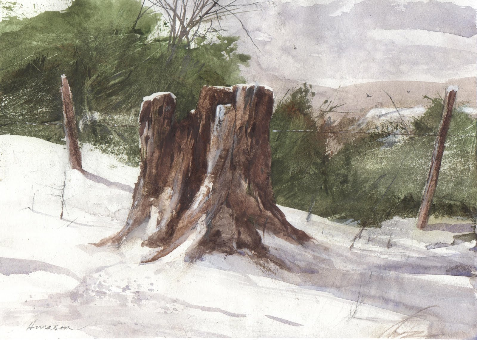 Snow Stump